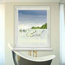 Graz Design 980087_90x57 Fensterdekor Milchglasfolie Sichtschutz Folie Badezimmer Bad WC (Gre=90x57cm)