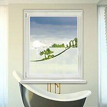 Graz Design 980092_110x57 Fensterdekor Milchglasfolie Sichtschutz Folie Badezimmer Landschaft (Größe=110x57cm)