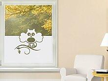 Graz Design 980131_80x57 Sichtschutzfolie Fenstertattoo Fensteraufkleber Kinderzimmer Eule Blatt Tier Vogel (Gre=80x57cm)