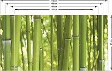 Graz Design 991000_110x57 Sichtschutz Fensterfolie Sichtschutzfolie für Badezimmer Bambus Bambusstamm (Größe=110x57cm)