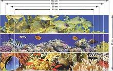 Graz Design 991008_80x57 Sichtschutz Fensterfolie Sichtschutzfolie fr Badezimmer Fische Unterwasser (Gre=80x57cm)