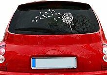 graz-design Auto-Aufkleber für Heckscheibe Pusteblume Blume   Heckscheiben-Aufkleber selbstklebend an Fenster/Seiten (38x70cm//010 weiss)