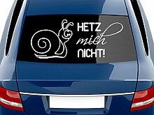 graz-design Heckscheiben Auto Aufkleber Autoaufkleber Tuning Spruch Hetz mich nicht (70x30cm//070 schwarz)