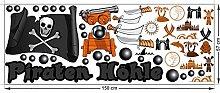 graz-design Wandsticker Set Kinderzimmer Piraten