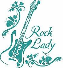 graz-design Wandtattoo Rock Lady mit Gitarre |