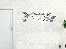 Graz Design® Wandtattoo Tattoo Garderobe inkl. 5