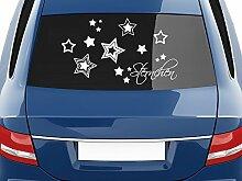 GRAZDesign 740306_70x40_055G Autoaufkleber Auto Heck Aufkleber für Heckscheibe Schriftzug Sternchen Sterne (70x40cm//055 Mint)