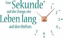 GRAZDesign 800174_KF_054 Wandtattoo Wanduhr Spruch