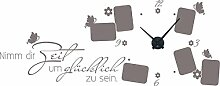 GRAZDesign 800550_BK_090 Wandtattoo Uhr Wanduhr