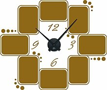 GRAZDesign 800572_BK_092 Wandtattoo Wanduhr Rahmen
