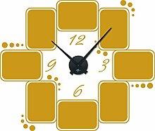GRAZDesign 800572_BK_820 Wandtattoo Wanduhr Rahmen