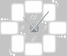 GRAZDesign 800572_SI_010 Wandtattoo Wanduhr Rahmen