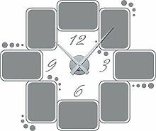 GRAZDesign 800572_SI_074 Wandtattoo Wanduhr Rahmen