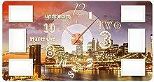 GRAZDesign 801132_KF Wandsticker Uhr Bilderrahmen