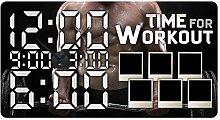 GRAZDesign 801133_BK Wandsticker Uhr Bilderrahmen