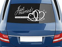 GRAZDesign Aufkleber Auto Hochzeit Just Married -