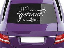 GRAZDesign Aufkleber Auto Hochzeit Wir haben Uns