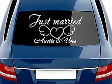 GRAZDesign Autodeko Aufkleber Hochzeit Just