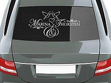 GRAZDesign Autodeko Aufkleber Hochzeit Namen -