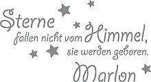 GRAZDesign Babybett Aufkleber Name Wunschname -