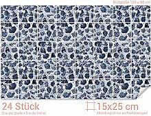 GRAZDesign Badfliesen überkleben Steine - PVC