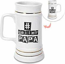 GRAZDesign Bierkrug Papa, Bierseidel Geschenk zum