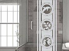 GRAZDesign Fensterfolie Bad, Fensteraufkleber