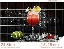GRAZDesign Fliesenaufkleber Cocktail-Glas für