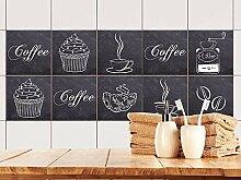 GRAZDesign Fliesenaufkleber Küche Coffee -