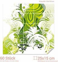 GRAZDesign Fliesenaufkleber Küche grün -