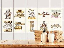 GRAZDesign Fliesenaufkleber Küche Vintage