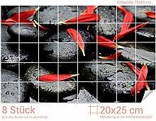 GRAZDesign Fliesenaufkleber Massagesteine/Blüten