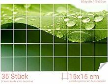 GRAZDesign Fliesenaufkleber Wassertropfen/Bambus