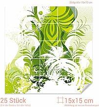 GRAZDesign Fliesenfolie grün - Klebefliesen