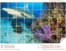 GRAZDesign Fliesenwandbild Hai - Fliesensticker