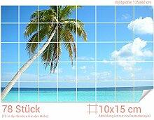 GRAZDesign Fliesenwandbild Palme - Fliesensticker