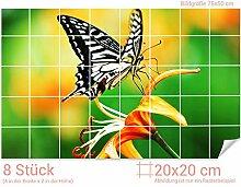 GRAZDesign Fliesenwandbild Schmetterling -