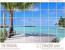 GRAZDesign Fliesenwandbild Strand - Fliesensticker