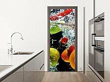 GRAZDesign Fototapete Küche - Klebefolie Tür