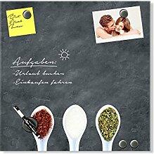 GRAZDesign Glas Whiteboard für Küche mit 6