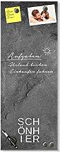 GRAZDesign Glasbild Granit, Wandtafel Granitoptik,