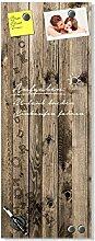 GRAZDesign Glasbild Holzoptik, Wandtafel für