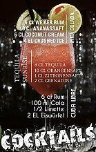 GRAZDesign Glasbild Küche Wandbilder Cocktails -