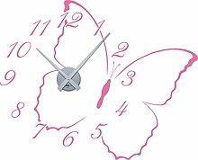 GRAZDesign Kinderuhr Kinder Wanduhr Schmetterling