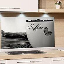 GRAZDesign Küchen Spritzschutz Herd Coffee -