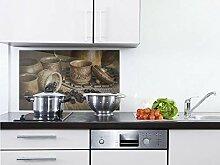 GRAZDesign Küchen Spritzschutz Herd Kaffeebohnen