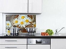 GRAZDesign Küchen Spritzschutz Herd Kamille