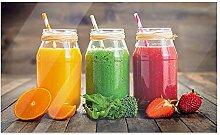 GRAZDesign Küchenbilder aus Glas Bunte Smoothies,