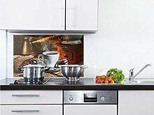 GRAZDesign Küchenrückwand Glas Braun - Küchen