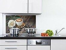 GRAZDesign Küchenrückwand Glas braun -